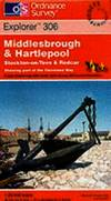 image of Middlesbrough and Hartlepool, Stockton-on-Tees and Redcar (Explorer Maps)