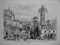 image of The Imperial Assembly of India at Delhi: The Vice-Regal Procession Passing the Clock-Tower and Delhi Institute, in the Chandnee Chowk.