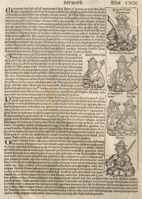 Liber chronicarum- Nuremberg Chronicle, an individual page from the Chronicle featuring Emporer Maximinus,  Gordianus,  Philippus, Decius, and the 6th persecution of Christians; Plate No. CXIX