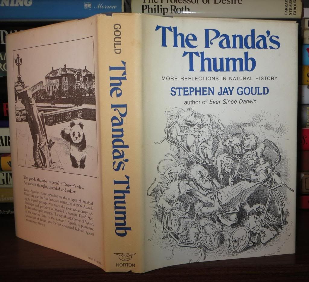 the panda s thumb stephen jay What do the panda's magical thumb and the sea turtle's perilous migration tell us about imperfections that prove the evolutionary rule the wonders and mysteries of evolutionary biology are elegantly explored in these and other essays by the celebrated natural history writer stephen jay gould.