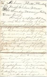 image of February 5, 1865 Correspondence Letter from Pratt's Plantation, N. Chelsea, MA  - 4 Pages Single Sheet.