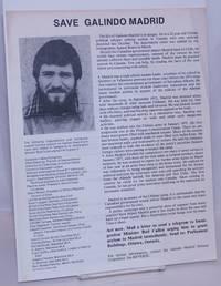 image of Save Galindo Madrid [handbill]