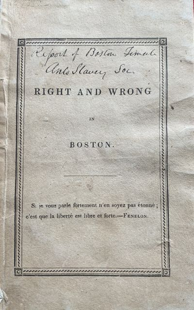 Right and Wrong in Boston.