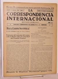 image of La Correspondencia internacional; revista semanal, año VI, num.7, 9 febrero 1934