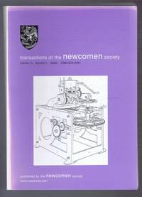 Transactions of the Newcomen Society for the study of the history of Engineering & Technology. Vol. 73, no. 2 - 2003