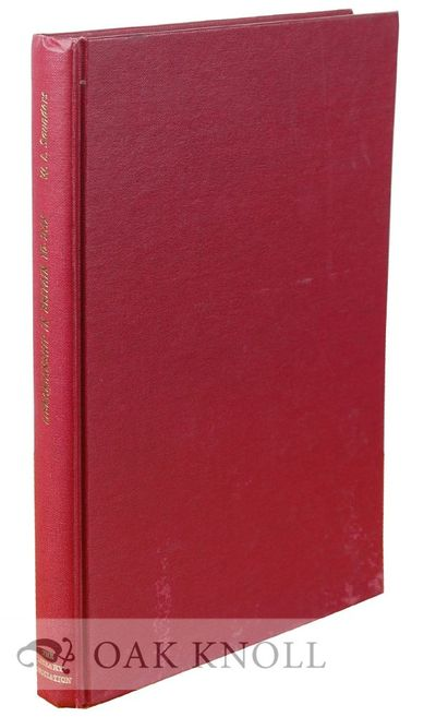 London: The Library Association, 1968. cloth. small 8vo. cloth. xviii, 174 pages. Lectures delivered...
