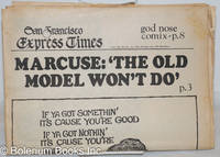 """image of San Francisco Express Times: vol. 1, #48, December 18, 1968; Marcuse: """"The old model won't do."""