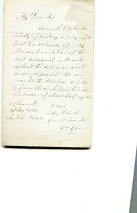 "A.L.S.  To Sir John McNeill.  About ""sending A Copy of the first two volumes of my Perisan..."
