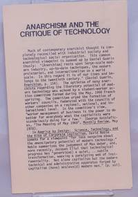 image of Anarchism and the critique of technology