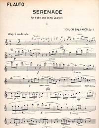 Serenade, Op. 1 - for Flute and String Quartet [SET OF FIVE PARTS]