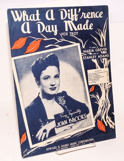 New York: Edward B. Marks Music Corporation, 1934. Sheet_music. 4p., 9x12 inches, sheet music in sli...