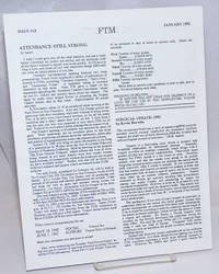 FTM Newsletter #18, January 1992