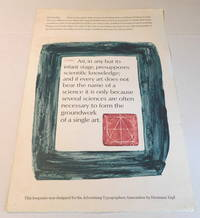 image of BROADSIDE designed by HERMANN ZAPF as a keepsake for the Advertising Typographers Association. Illustrated in color by Zapf with quotes from J.S. Mill and D.B. Updike.