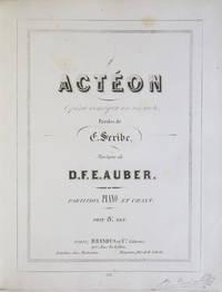[AWV 26]. Actéon Opéra comique en un acte. Paroles de E. Scribe... Partition Piano et Chant. Prix 8.F net. [Piano-vocal score]