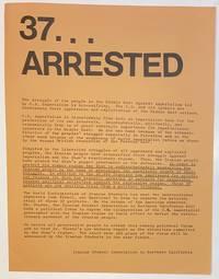 37... arrested [handbill]