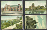 image of Melbourne Town Hall and an image of the Exhibition Building, postcard celebrating Great White Fleet.  7 postcards