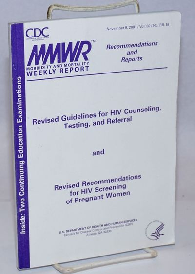 Atlanta: US Department of Health and Human Services, CDC, 2001. Paperback. vi, 86p., blue-page Conti...