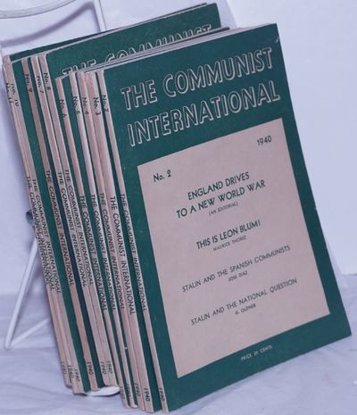 New York: Workers Library Publishers, 1940. Icomplete run of eleven issues of the monthly journal fo...
