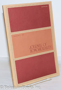 image of Journal of Homosexuality: vol. 1, #3, Spring 1976