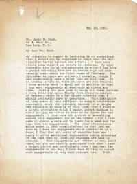 image of TYPED LETTER SIGNED BY AMERICAN EXPERIMENTAL PSYCHOLOGIST JOSEPH JASTROW.