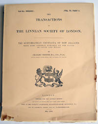 The Subterranean Crustacea of New Zealand; with some general remarks on the fauna of caves and wells. Transactions of the Linnean Society of London. 2nd ser. Vol VI Pt 2. Zoology by Charles Chilton - Paperback - 1st Edition - 1894 - from E C Books (SKU: 031668)