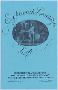 Eighteenth Century Life (Volume 21, February 1997)