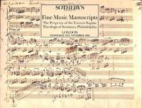 Sale 21 Nov. 1990: Fine Music MSS, the property of the Eastern Baptist  Theological Seminary, Philadephia. Autograph MSS by Mozart (the fantasy  and sonata in C Minor, K. 475 & 457), Haydn, Meyerbeer, Spohr and Johann  Strauss.