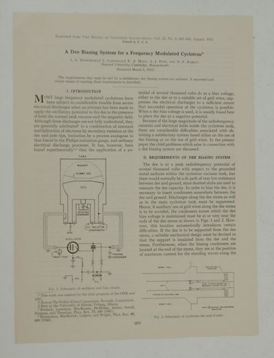 The Review of Scientific Instruments, 1951. First Separate Edition. Pamphlet. Near Fine. First Separ...