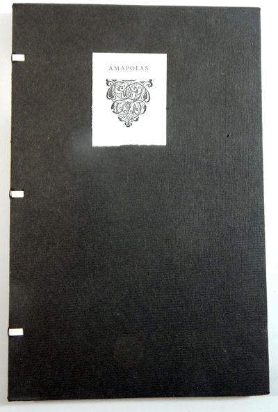 Tacámbaro: Taller Martín Pescador, 2020. Limited edition. Wraps. Fine. 8vo. 40pp. Finely printed b...