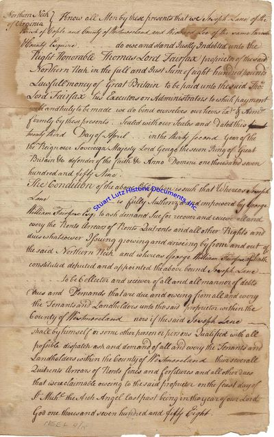 RICHARD HENRY LEE (1732-1794). Lee, a Signer of the Declaration of Independence from the prestigious...