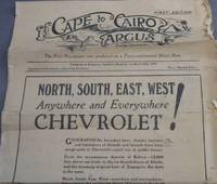 image of Cape to Cairo Argus - The First Newspaper ever produced on a Trans-Continental Motor Run