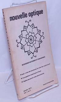 image of Nouvelle Optique: recherches haitiennes et caraibéennes. Vol. 1 no. 1 (Jan. 1971)
