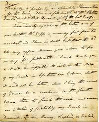 Handwritten and signed letter from E. D. Clarke to his publisher William Davies.