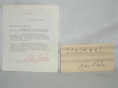 1967. 1tls, plus she has signed a musical line from her version of
