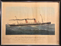 "Twin-screw Steamer ""LUCANIA"" of the Cunard Lines (Framed Original Print)"