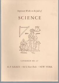 Catalogue 137: Important Works in the field of Science.