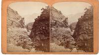 STEREOSCOPIC VIEW,  THE UTE PASS:  One Mile from Manitou House,  Manitou, Colorado.  Gurnsey's Rocky Mountain Views...Scenes on the Line of the Denver & Rio Grande Railway