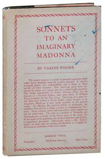New York: Harold Vinal, 1927. First Edition. Slim octavo (20.75cm.); publisher's paper-covered board...