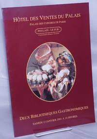 image of Deux Bibliotheques Gastronomiques: Bibliotheque de M. Christian Guy / Bibliotheque d'un cuisinier quercynois. Samedi 13 Janvier 2001