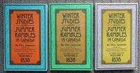 image of WINTER STUDIES AND SUMMER RAMBLES IN CANADA.  3 VOLUME SET.