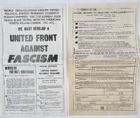 image of We must develop a United Front Against Fascism [handbill, together with registration form]