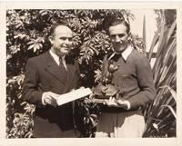image of Original photograph of Walt Disney and Marcondes Alves de Souza Jr., 1934