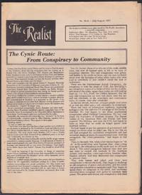 The Realist No. 91-A (July-August 1971) Includes Troost Street Blues, by Alan Ginsberg