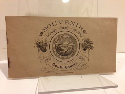 Sioux Falls, S. Dak: Brown & Saenger, Printers, 1893. Oblong tan printed paperwraps, illustration of...