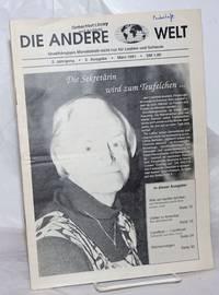 image of Die Andere Welt: unabhängiges monatsblatt nicht nür fur lesben und schwule; 2 Jahrgang, 3 Ausgabe, März 1991; die sekretärin wird zum Teufelchen..