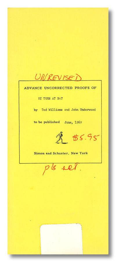 New York: Simon & Schuster, 1969. Narrow quarto (320 x 125mm). Padbound printed wrapper. Uncorrected...