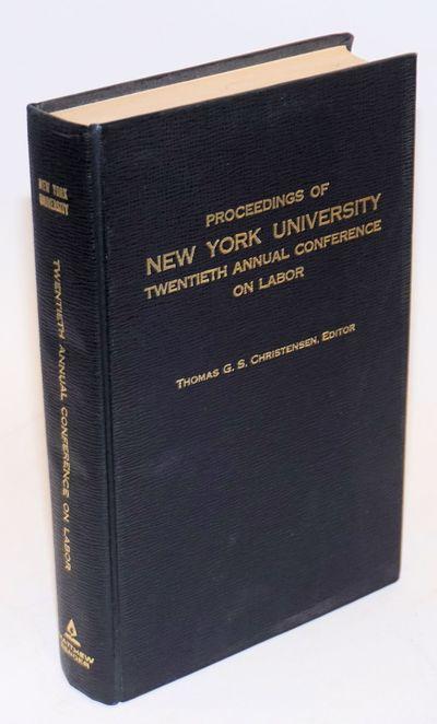 Albany: Matthew Bender, 1968. ix, 455p., hardback without dj, clean, tight binding. Articles on vari...