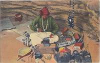 Navajo Indian Silversmith Plying his Trade, at Gallup, N.M. unused linen Postcard