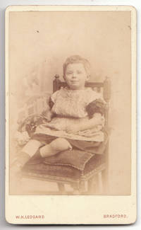 image of Vintage 1880 W. H. Ledgard CDV Photograph of Little Boy in a Dress
