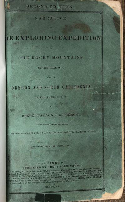 Washington: Henry Polkinhorn. Good. 1845. Hardcover. Variant that falls between Wagner-Camp 115: 3 a...